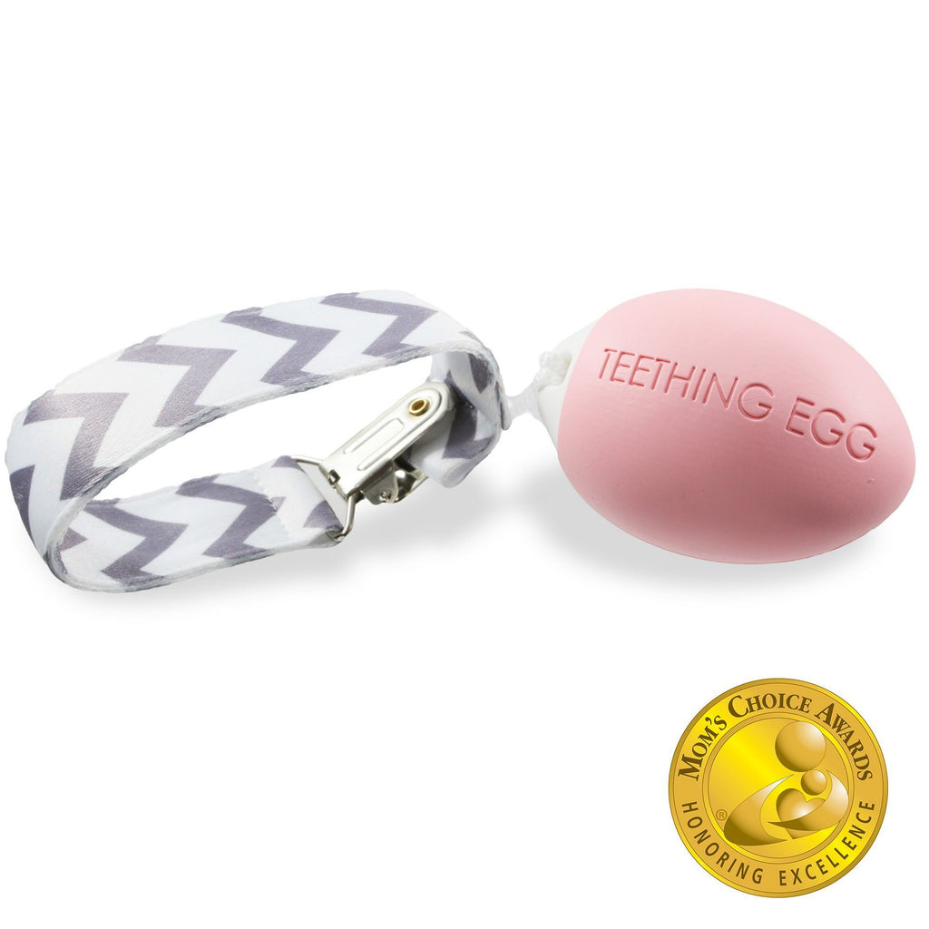The Teething Egg - Baby Pink