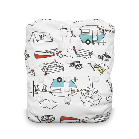 Happy Camper Stay Dry Natural One Size All In One