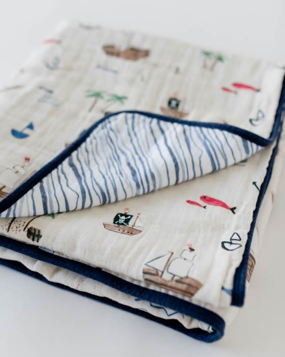 COTTON MUSLIN QUILT - TREASURE MAP