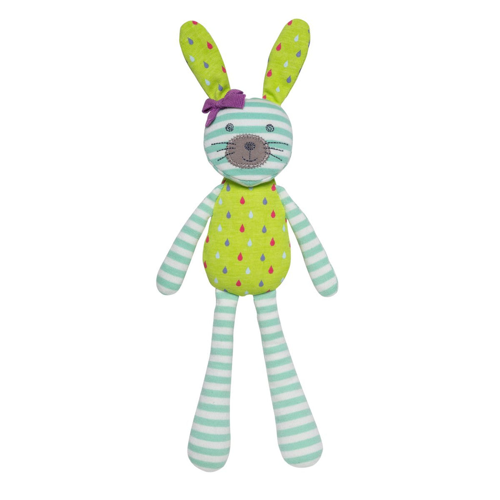 Spring Bunny Turquoise Stripe & Tear Drop