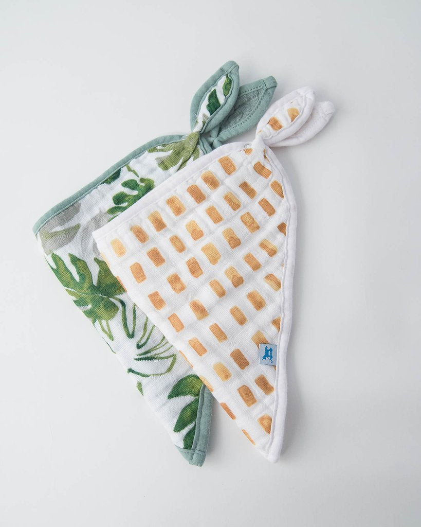 Tropical Leaf Bandana Bib 2 Pack