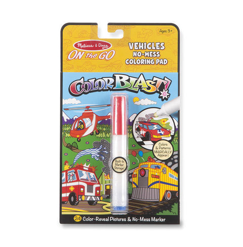ColorBlast No-Mess Coloring Pad - Vehicles