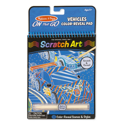 Scratch Art Color Reveal Pad - Vehicles