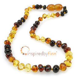 Rainbow Amber Polished Necklace