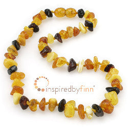 Inspired by Finn Polished Chips Amber Necklace
