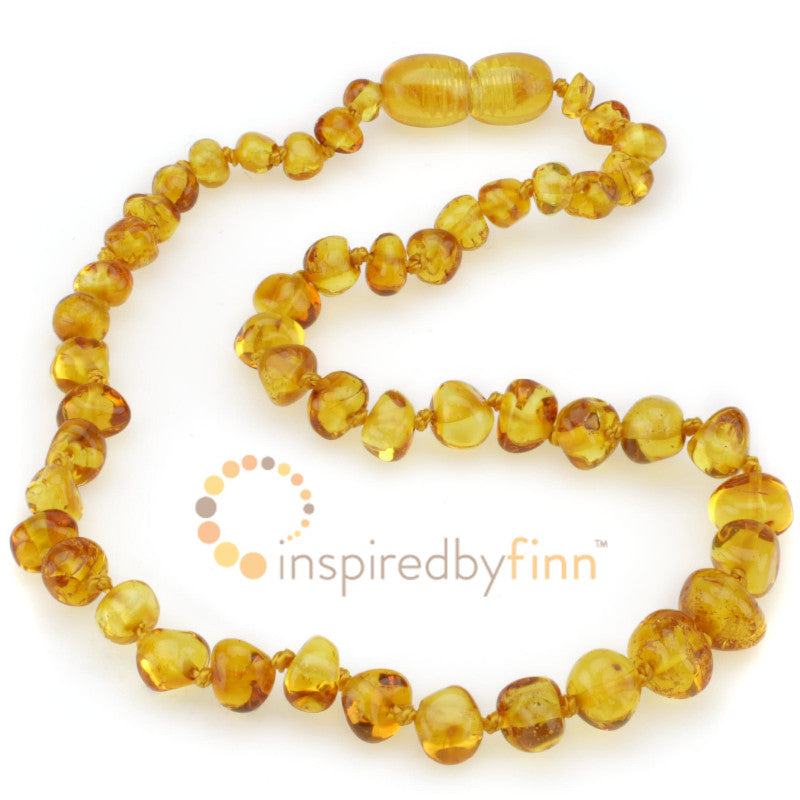 Golden Swirl Amber Necklace