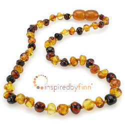 Inspired by Finn Polished 3 Different Amber Necklace