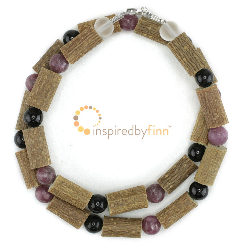 Inspired by Finn Lepidolite & Black Tourmaline Gemstone & Hazel - Lil Tulips