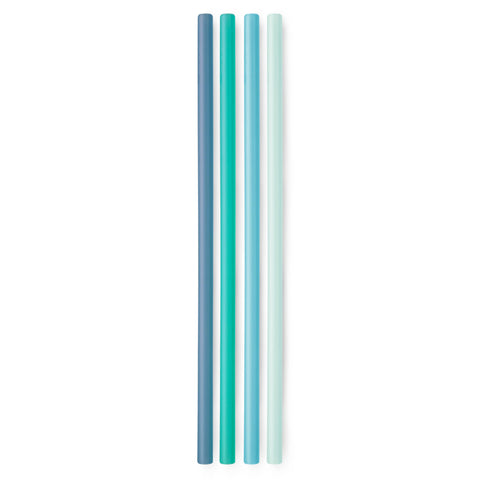 Silicone Reusable Straws X-Long (FOG/TEAL/SKY/MINT)