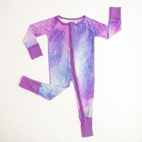 Purple Watercolor Baby & Toddler Bamboo Viscose Zippy