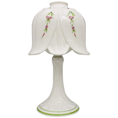 procelain, table lamp, lamp, italy, bassano, 60s, white, regency, modern