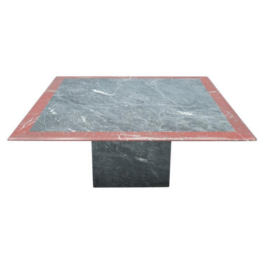 Square Two-Tone Marble Coffee Table, 1970s