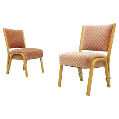 Pair of Hugues Steiner Chairs, France, 1950s