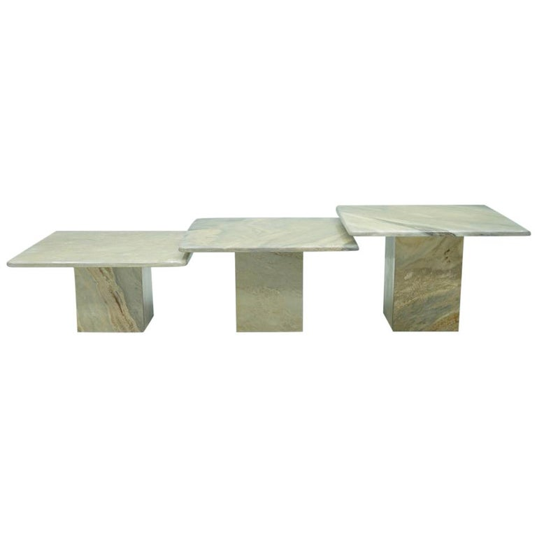 Marble, Side Tables, Coffee Table, vintage, stone, furniture, italian modern, 70s,