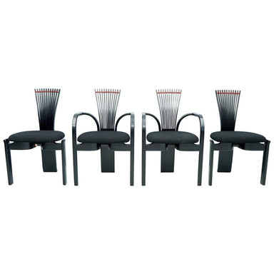 Set of Four Sculptural Dining Chairs by Torstein Nilsen for Westofa, Norway