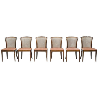 Set of 6 Elegant Chairs in Mahogany and Cane WK, Germany 1970s