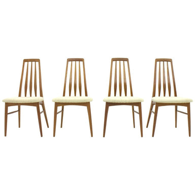 Set of Four Niels Koefoed EVA Teak Dining Chairs, Denmark 1960s