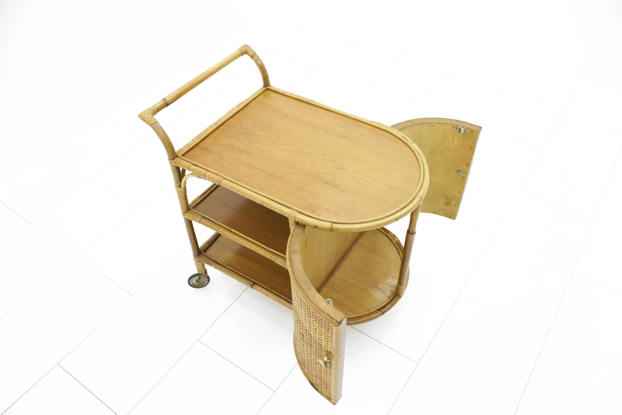 50`s Bamboo Bar Trolley (t)