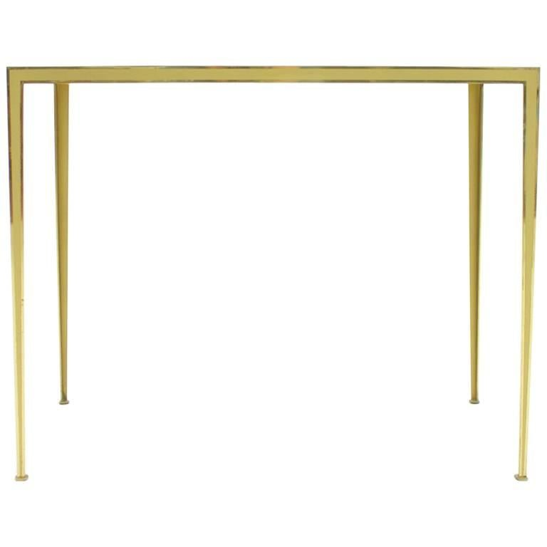 vereinigte werkstaetten, table, brass, glass, mirror, design, germany, 60s