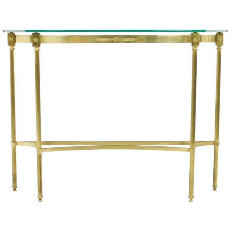 Brass and Mirror Console, Side Table, 1960s, 60s, modern,