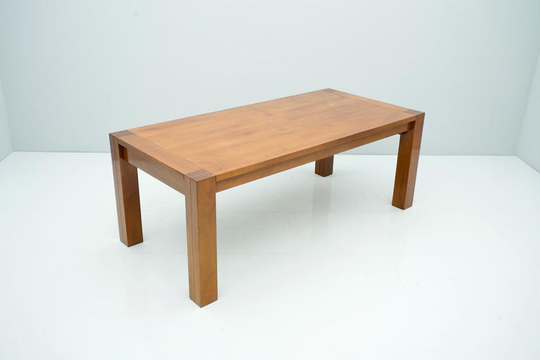 Large Solid Cherrywood Dining Table Extendable
