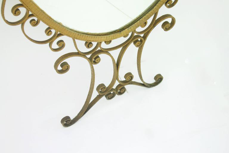 Large Floor Mirror Attributed to Pier Luigi Colli, Italy 1950s