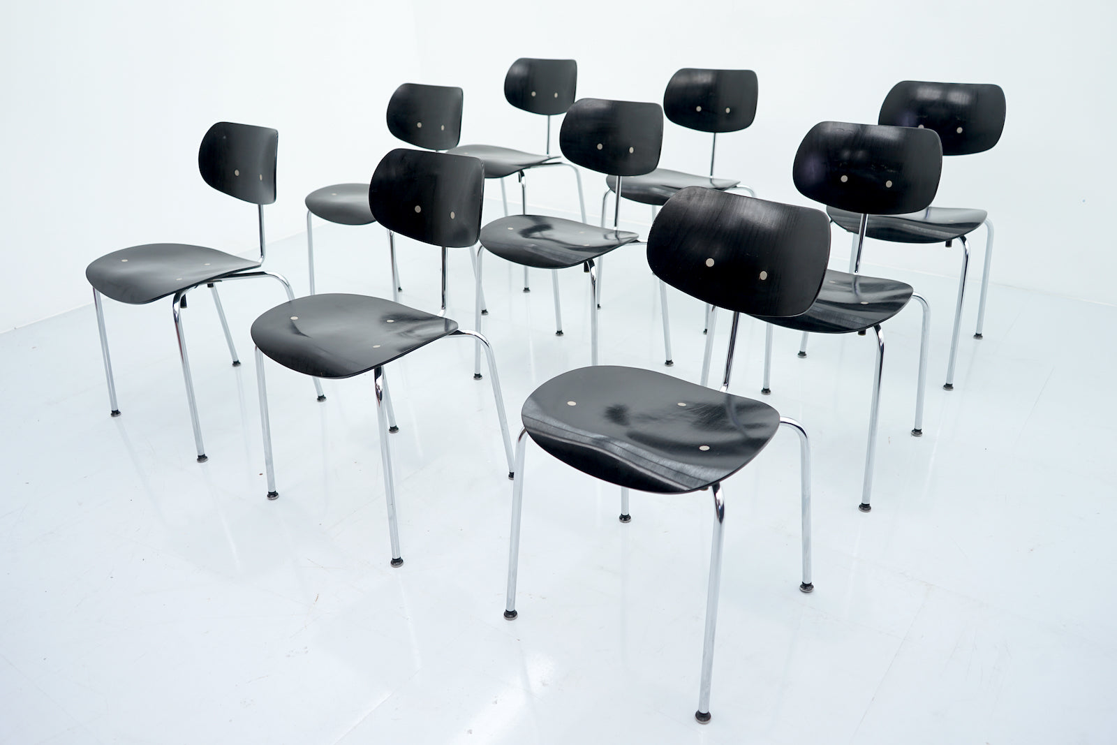 Egon Eiermann SE 68 Chairs Wilde & Spieth, Germany 1951