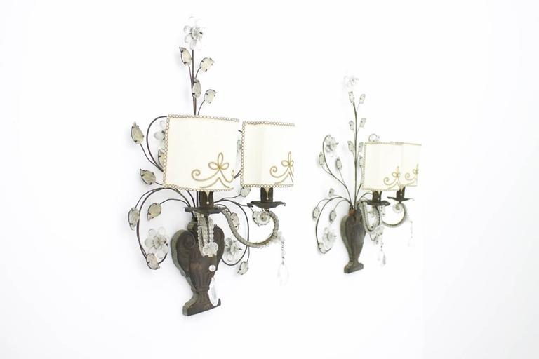 Pair of Wall Sconces by Maison Bagues, France 1940
