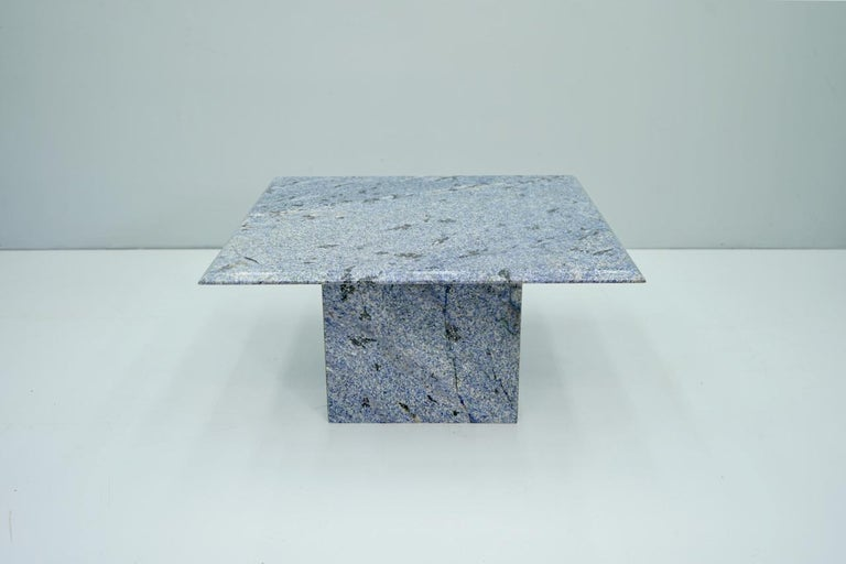 Blue Granite Side Table, 1970s Stone, Marble