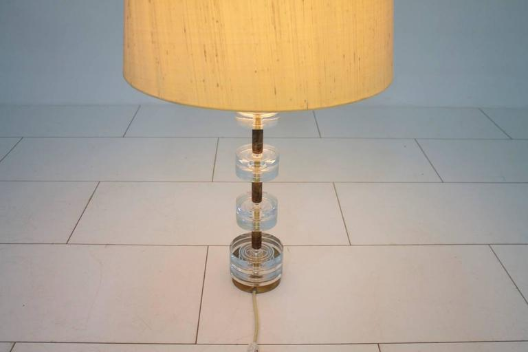 Brass and Glass Table Lamp by Luxus Sweden, circa 1960s