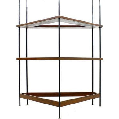 string, shelf, bar, counter, black, teak, brown, mid century, vintage, 50s, 60s