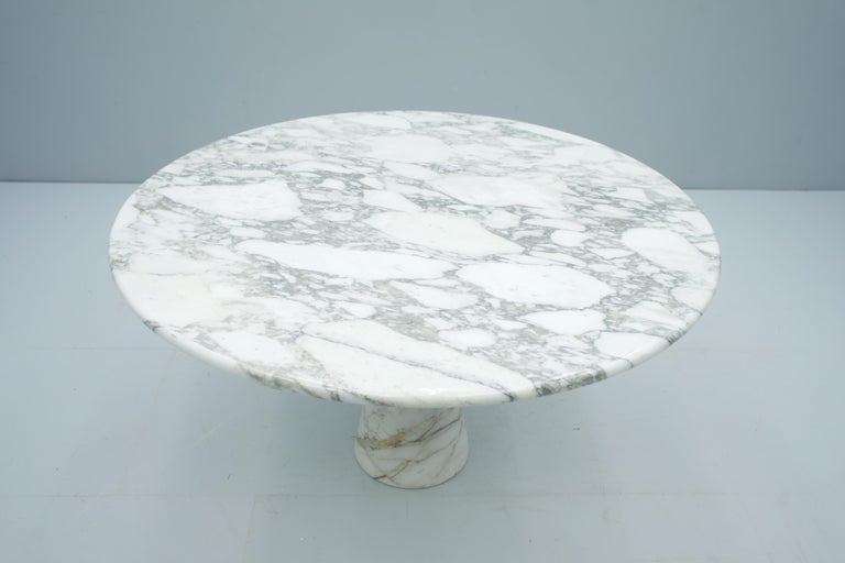 Angelo Mangiarotti White and Grey Marble Dining Table M1 Skipper, 1969