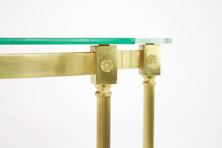 Brass and Mirror Console, Side Table, 1960s