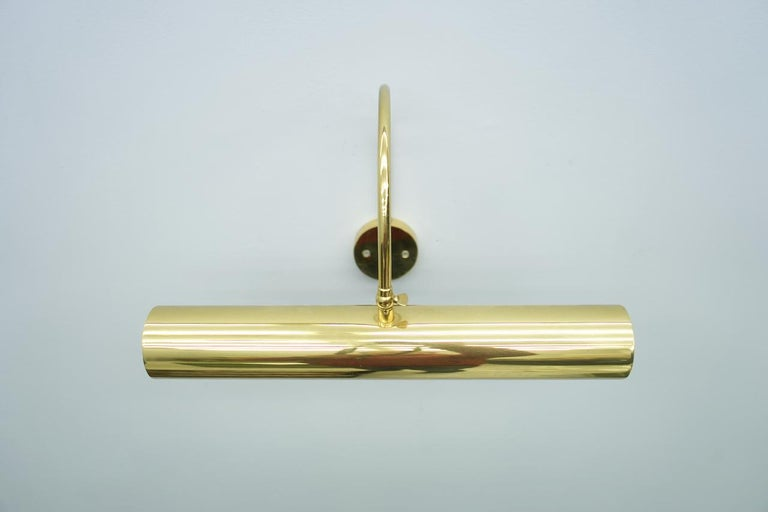 Adjustable Brass Picture Lamp Wall Light, 1970s