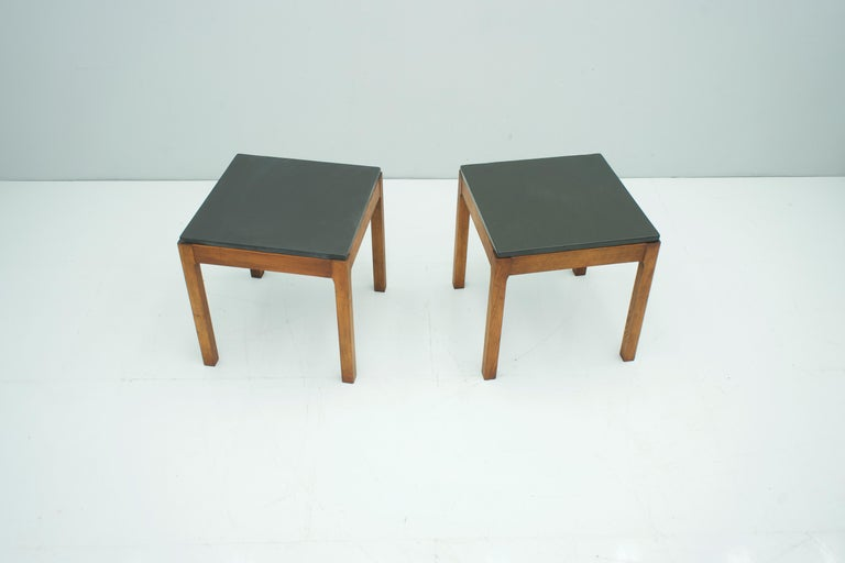 Pair of Slate Side Tables, 1950s