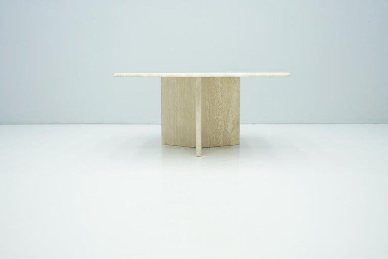 Coffee Table in Italian Travertine 1970s
