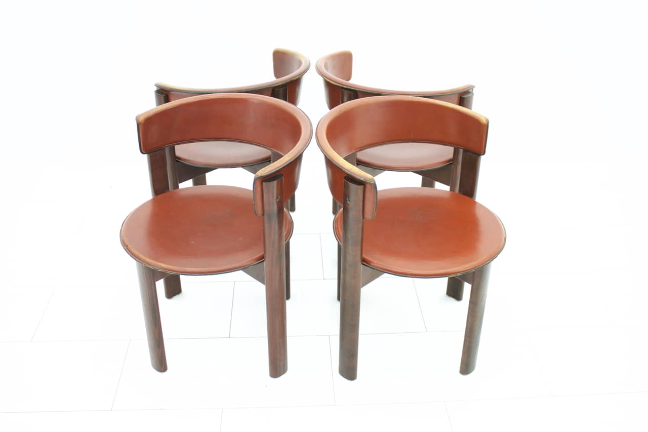 Set of Four Cassina Dining Room Chairs 1970s