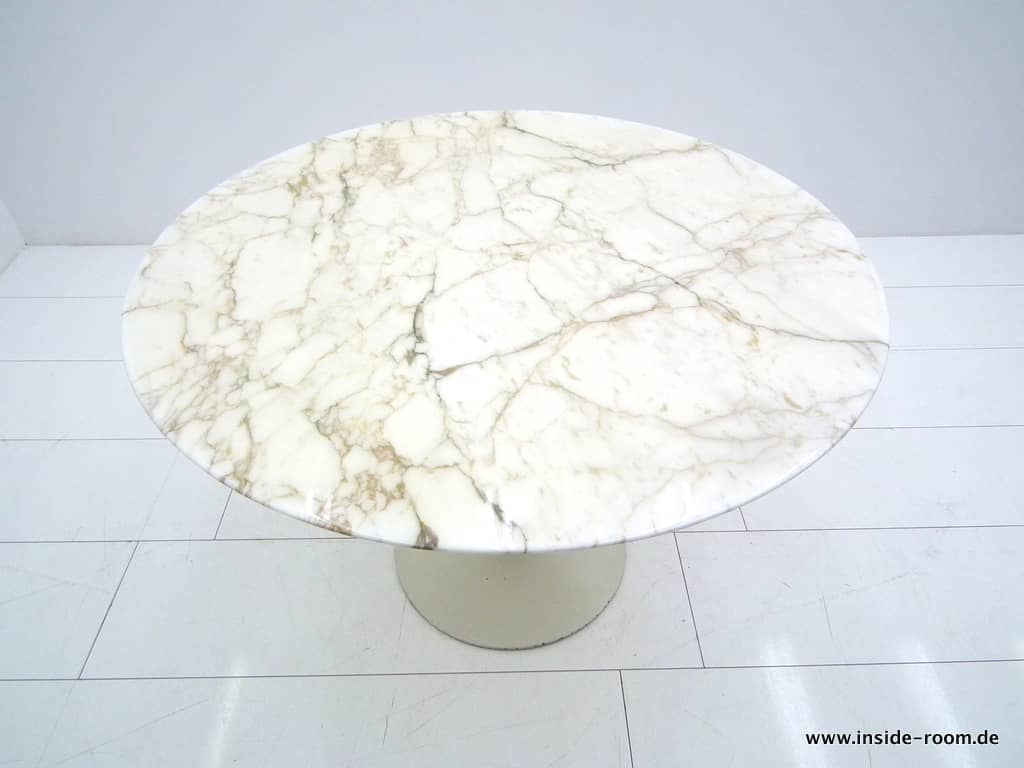 Eero Saarinen Marble Top Dining Table, Knoll