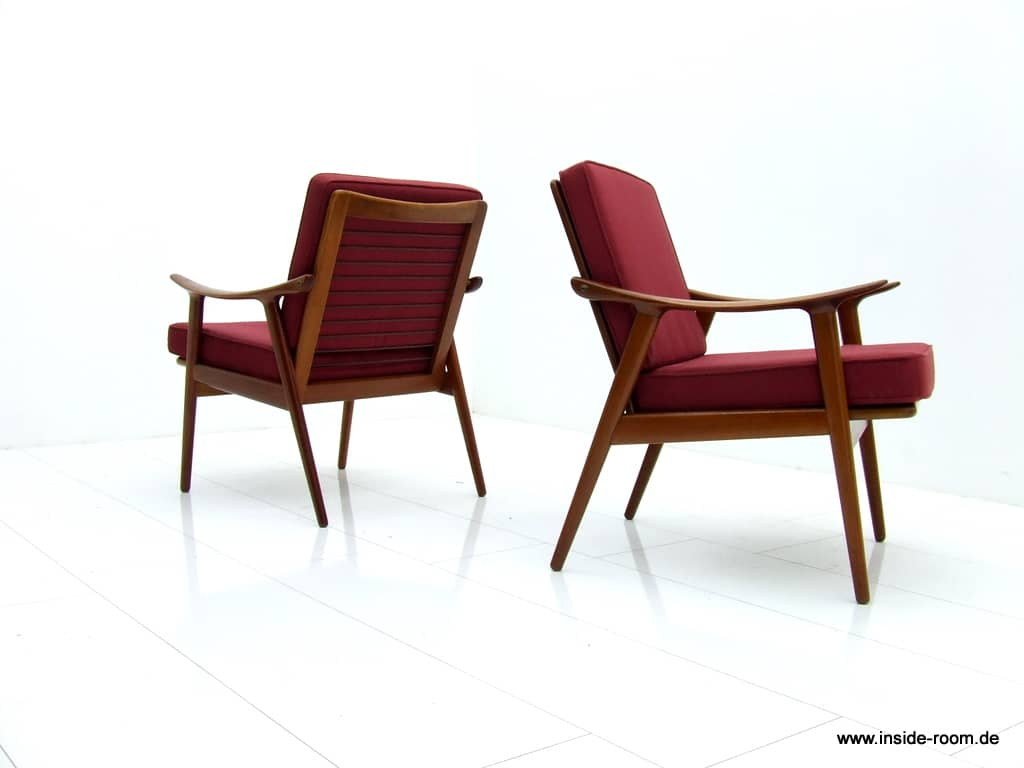 Frederik Kayser Teakwood Easy Chairs