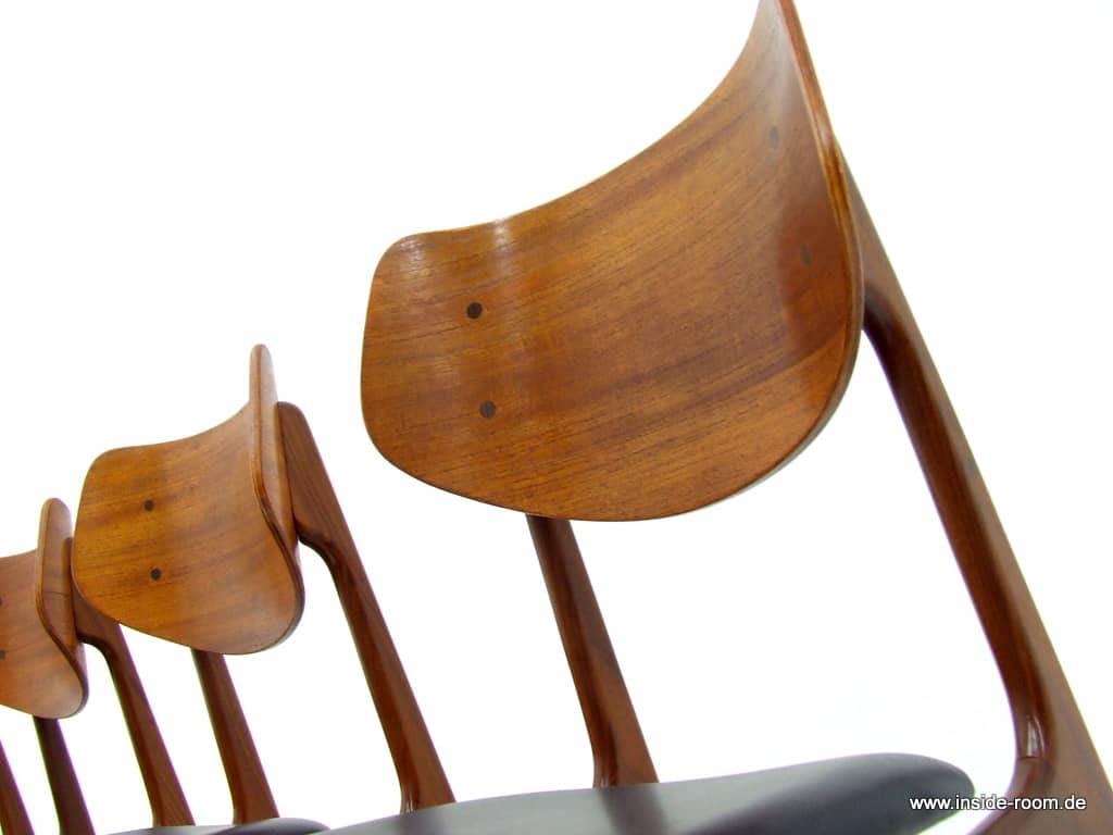 Teak / Leather Dining Chairs