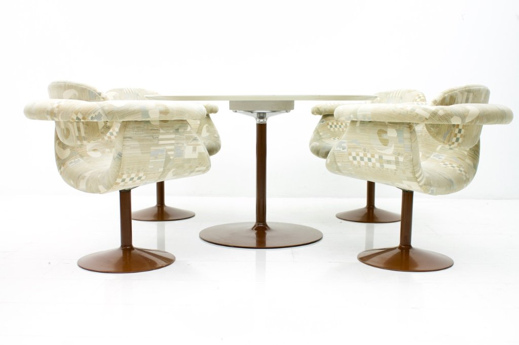 Rare Dining Set by Eero Aarnio for Asko 1970s