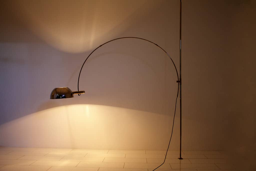 Ceiling to Floor Lamp with Adjustable Arc by Florian Schulz, 1970`s (lp)