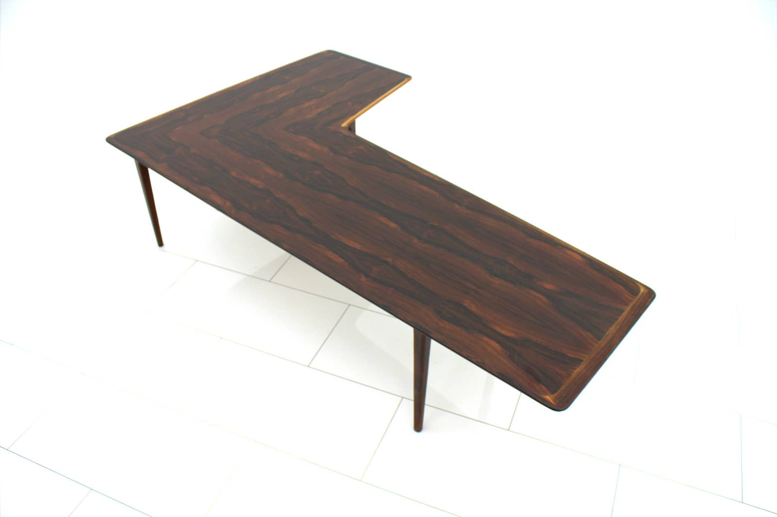 Large L-Shape Coffee Table, 1960s (t)