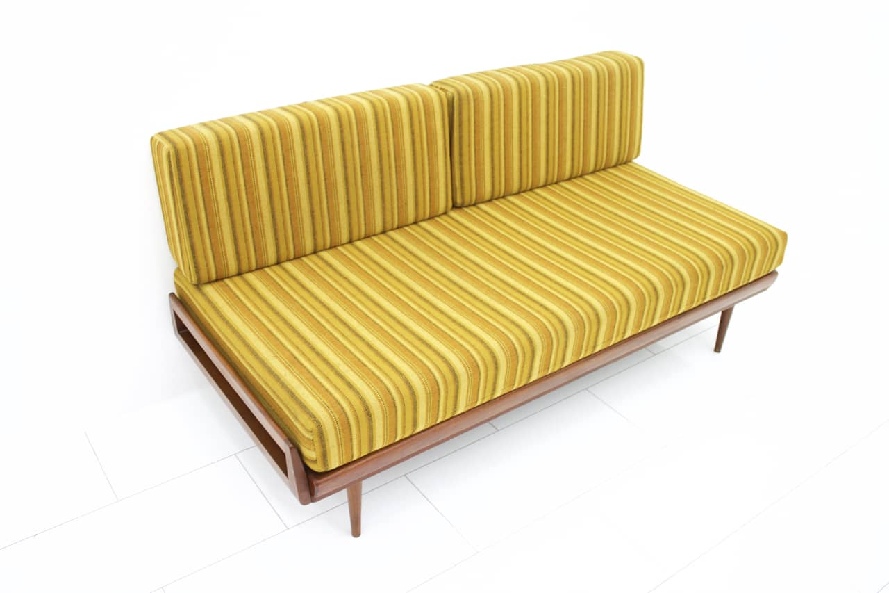 Teak Wood Daybed and Sofa by Knoll Antimott, Germany 1950`s (s)