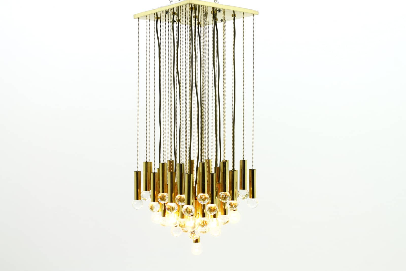 Ernst Palme Brass & Glass Chandelier (2), 1970`s (lp)