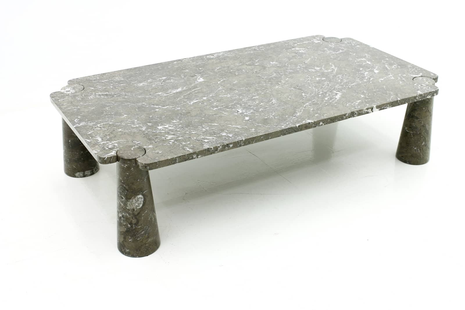 Angelo mangiarotti, marble, table, coffee table, italy 1960s, 70s