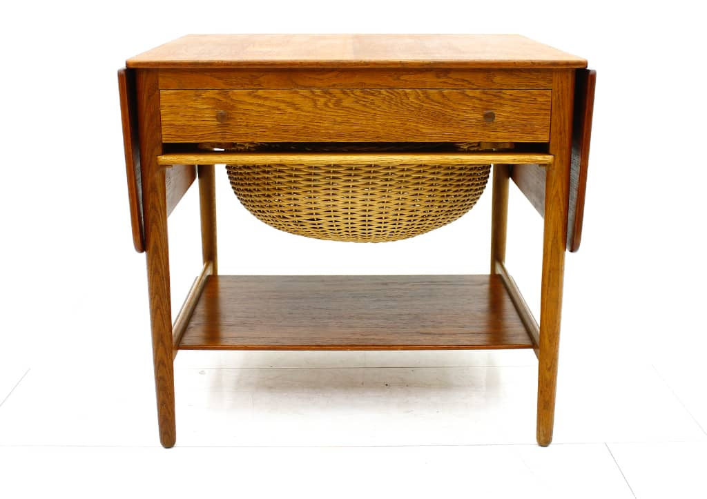 Hans J. Wegner Sewing Table, Oak & Teak, Andreas Tuck