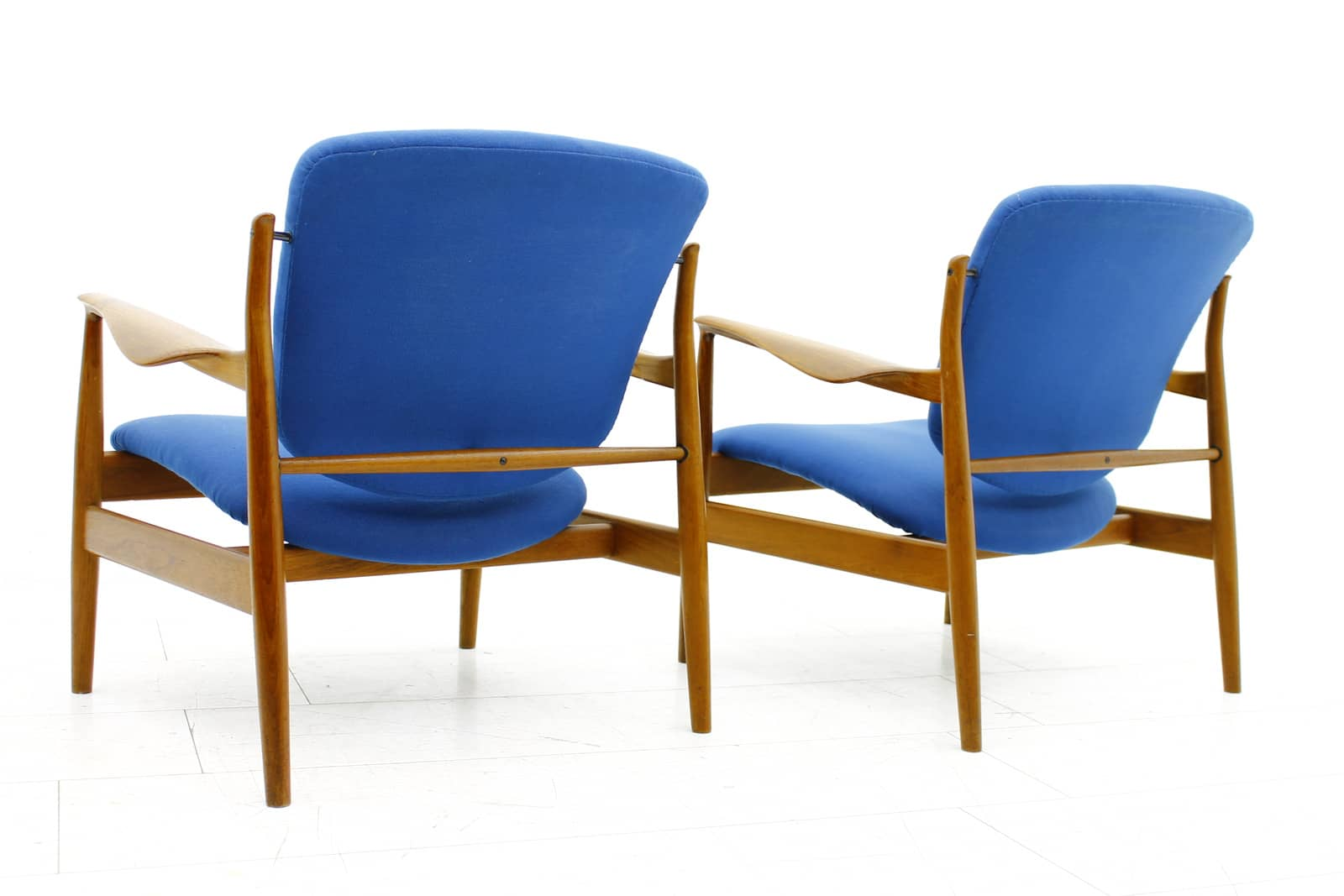 A Pair Finn Juhl Teak Lounge Chairs FD 136, France & Son, 1958 (l)