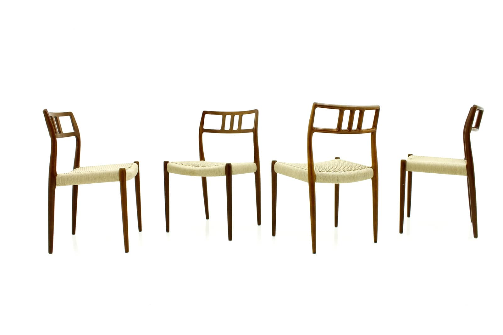 Four Niels O. Møller Teak Dining Room Chairs Mod 79