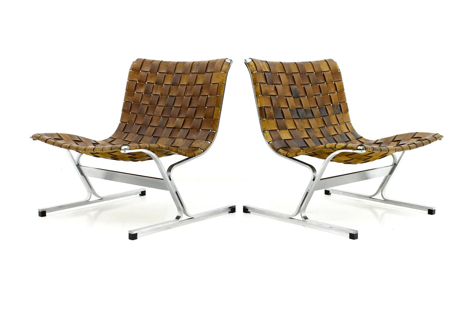 A Pair of Lounge Chairs PLR 1 by Ross Littell, Italy 1968